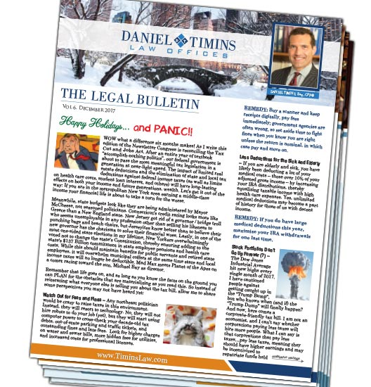 Law Offices of Daniel Timins Newsletter